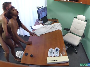 Nude ebony filmed in airless during indestructible sex nearby will not hear of physician
