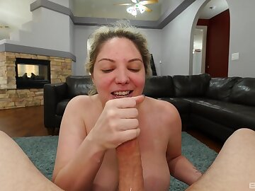 Amazing fit together sucks Hawkshaw in POV while nude added to slutty